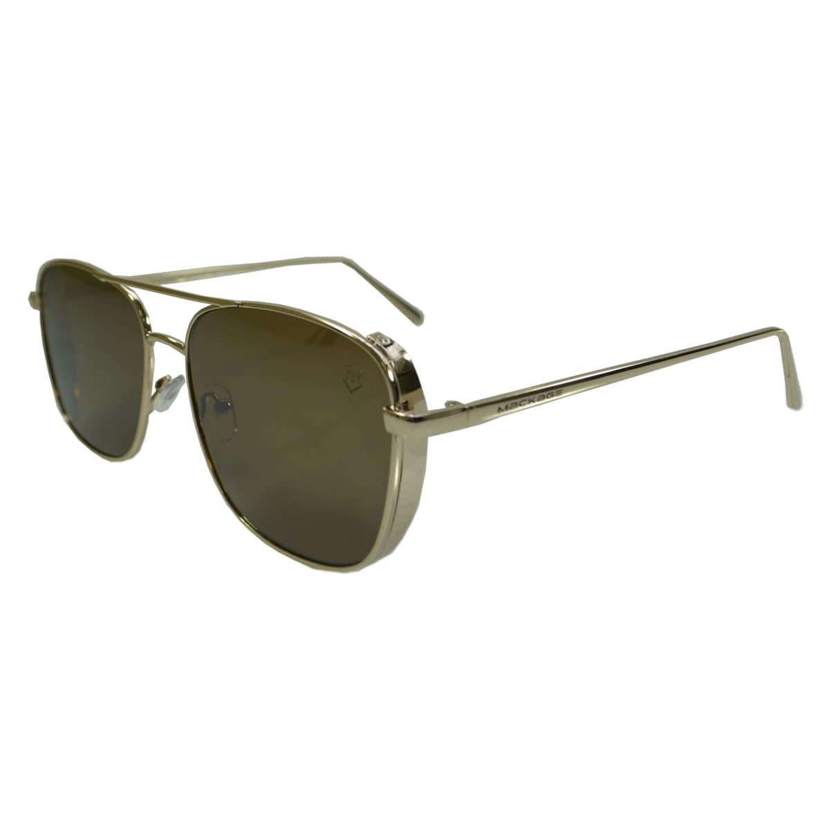 Óculos De Sol Mackage Unissex Metal Retangular Steampunk