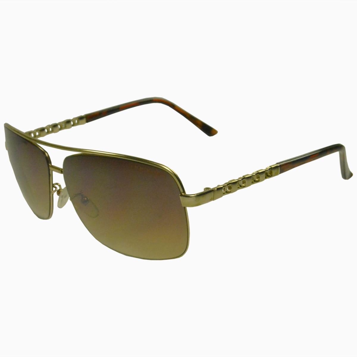 Óculos de Sol Mackage Unissex Metal Aviador Retangular - Dourado