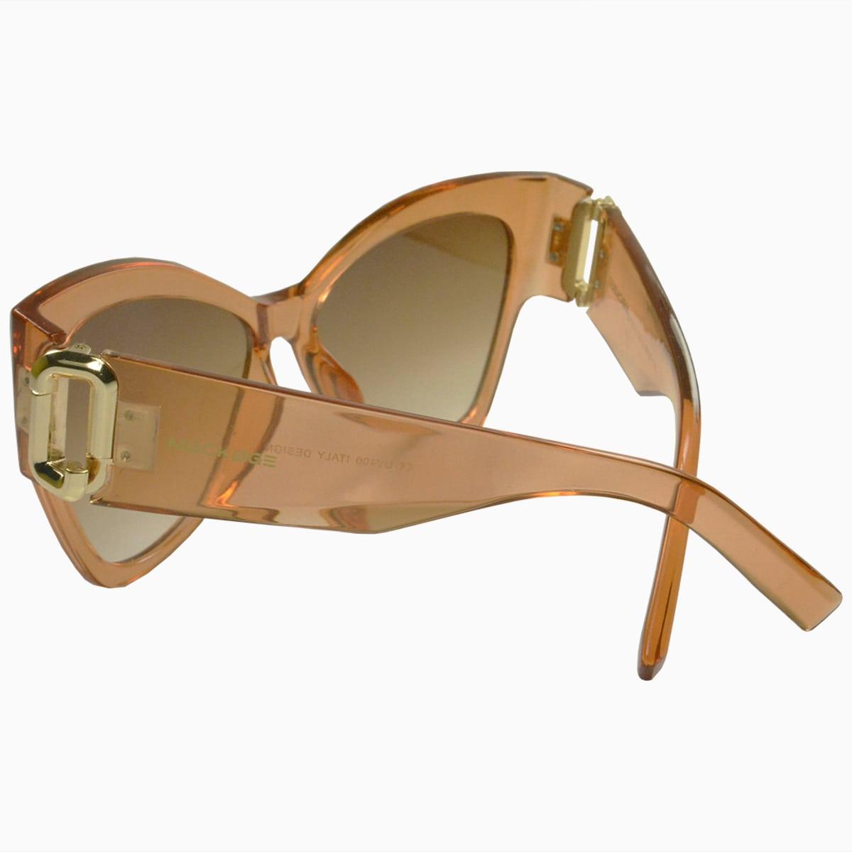 Óculos de Sol Mackage Feminino Acetato Oversize Butterfly - Nude