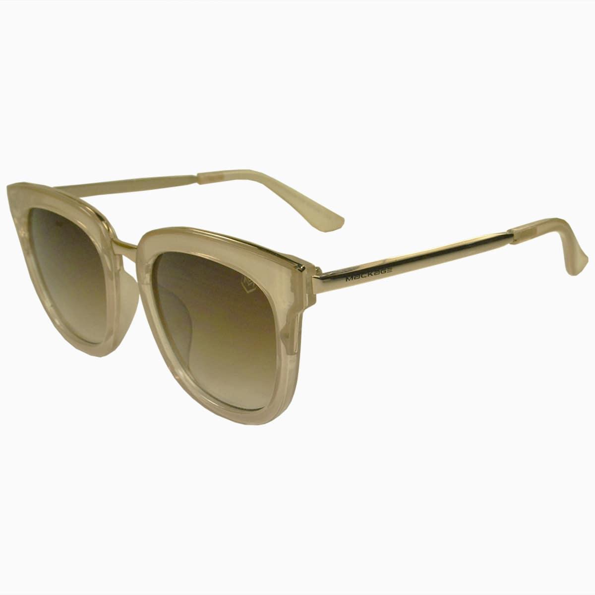Óculos de Sol Mackage Feminino Acetato/Metal Quadrado - Nude