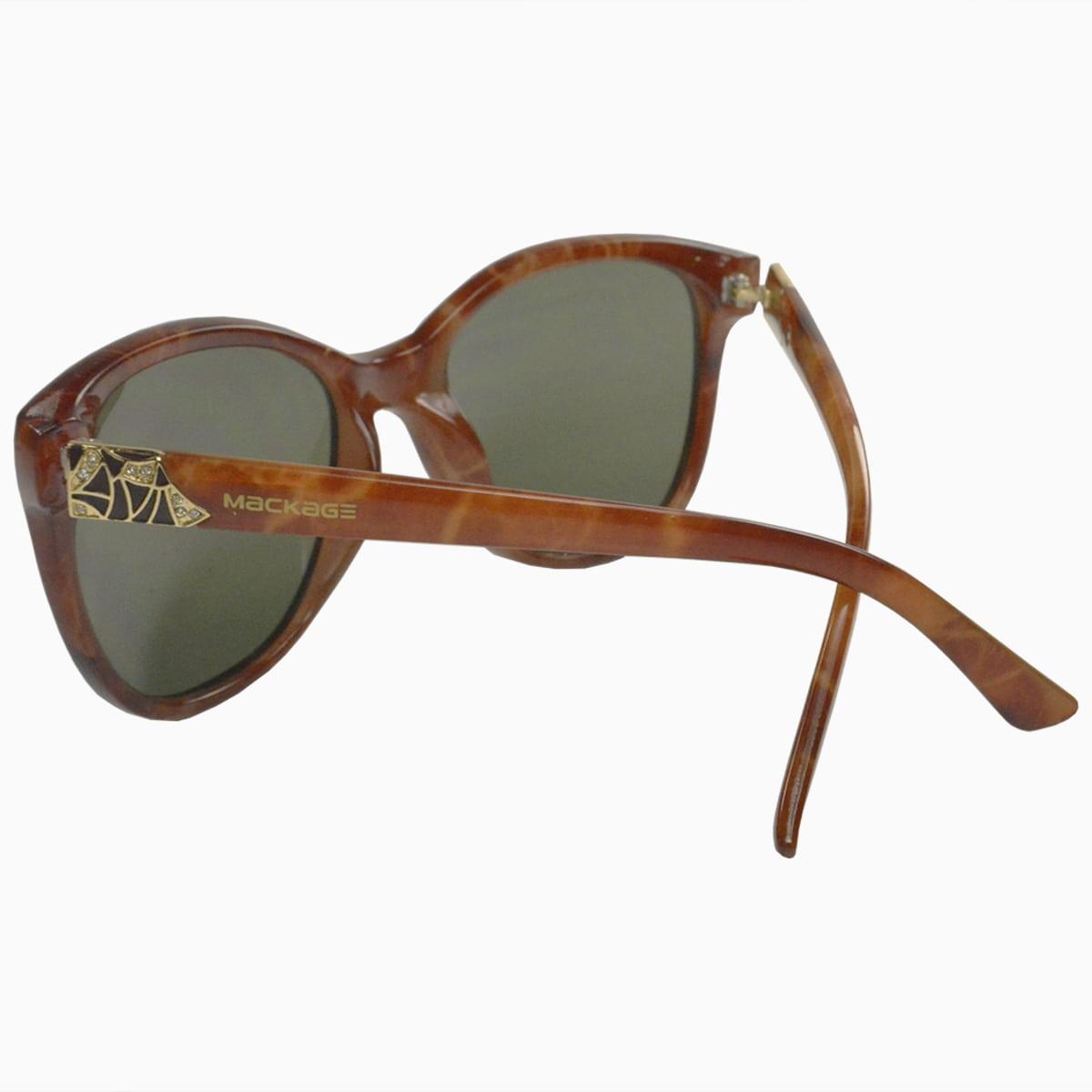Óculos de Sol Mackage Feminino Acetato Gateado - Marmorizado Marrom