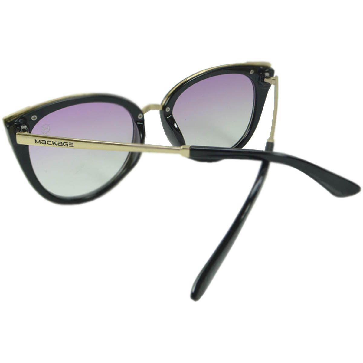 Óculos De Sol Mackage Mk8100c7 Preto Lente Rosa