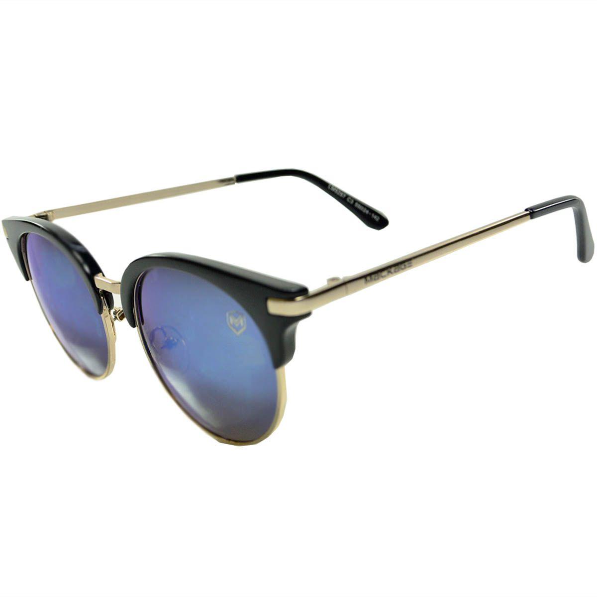Oculos De Sol Mackage Mk9287pa Preto Azul
