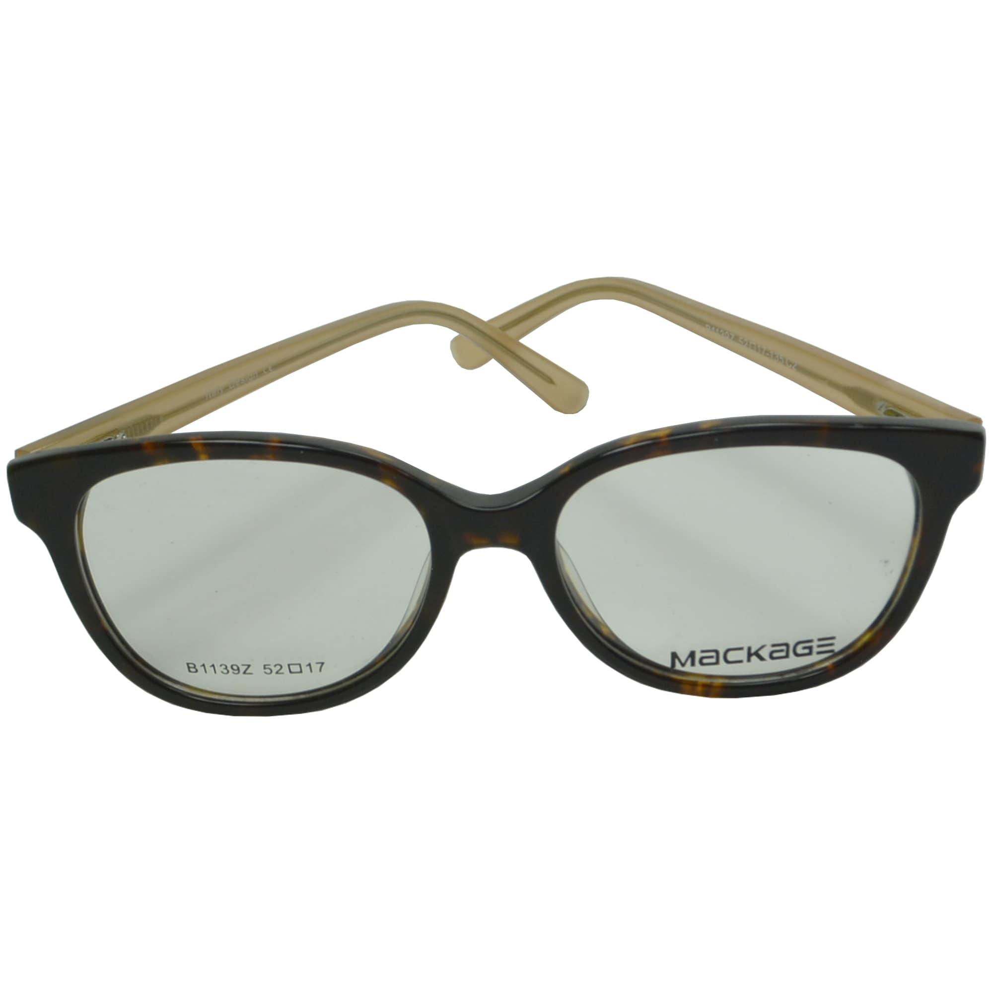 Armação para Óculos de Grau Mackage MKA11392 Preto Bege