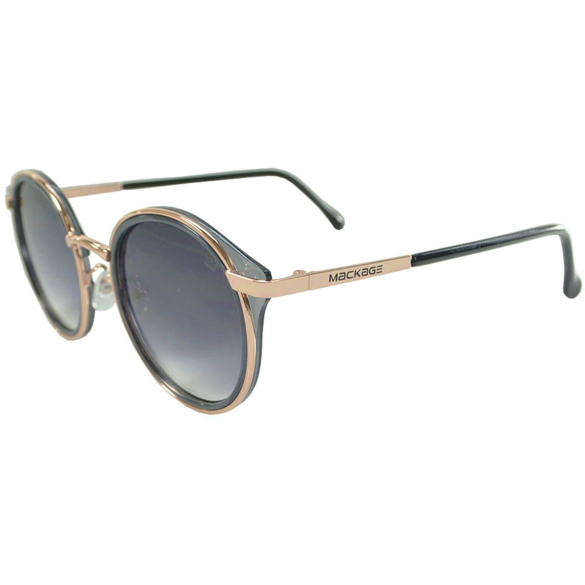 Óculos De Sol Mackage Feminino Metal Redondo - Cinza
