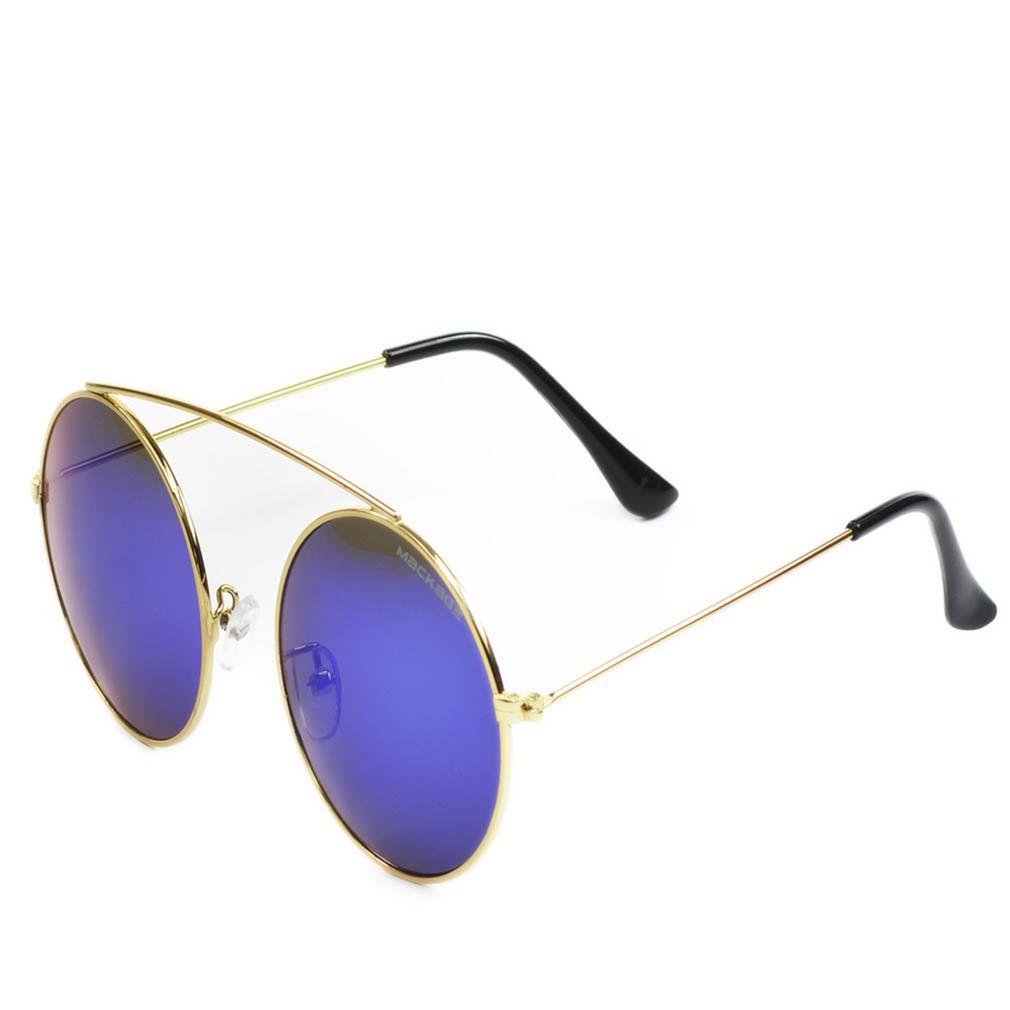 Óculos de Sol Redondo Mackage MMK17348 Dourado Lente Azul