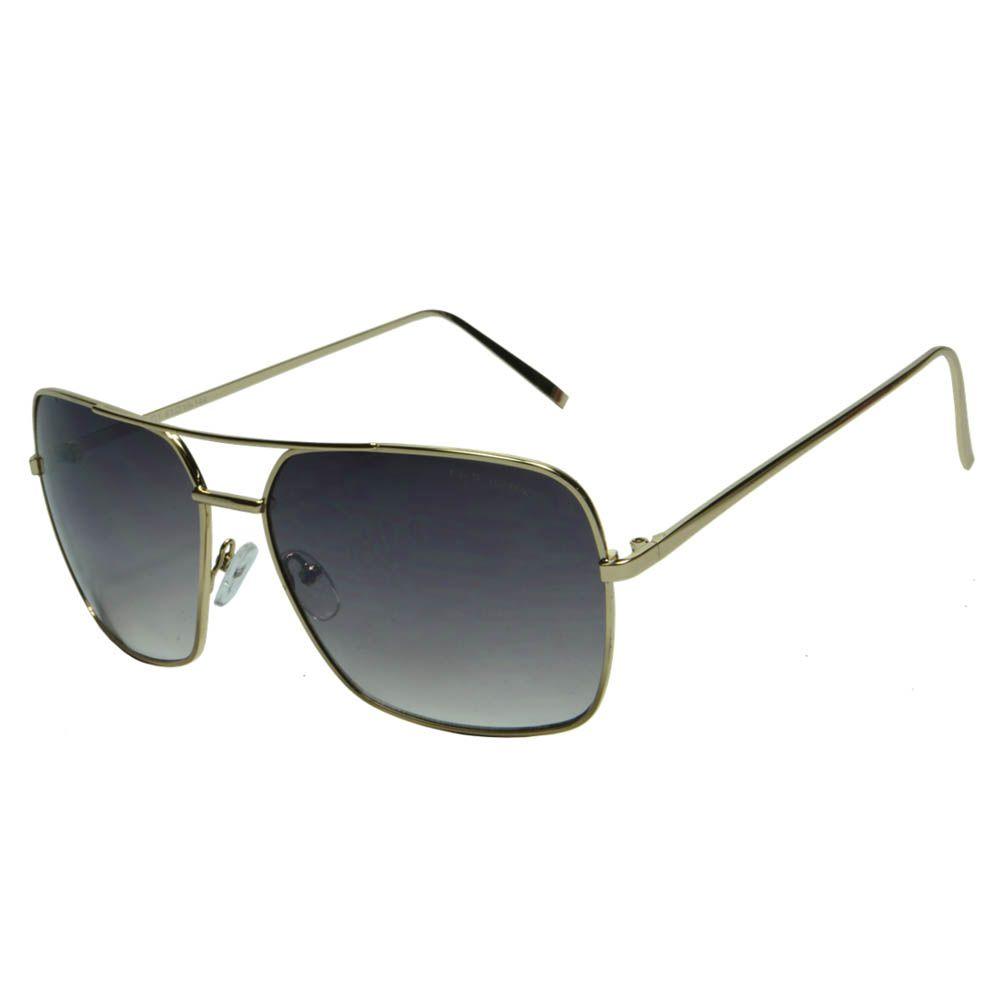 Óculos de Sol Mackage Unissex Metal Retangular - Dourado