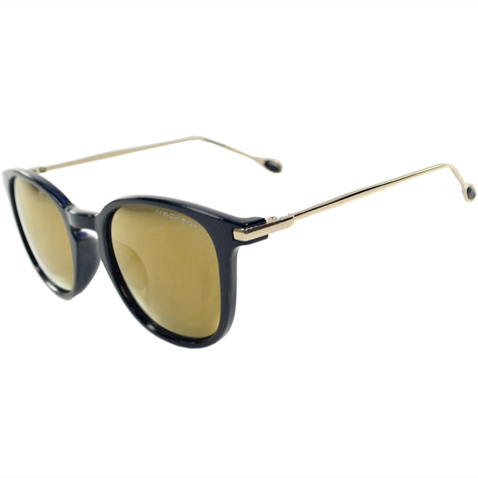 Óculos de Sol Mackage Unisex Acetato/Hastes em Metal Retangular - Preto
