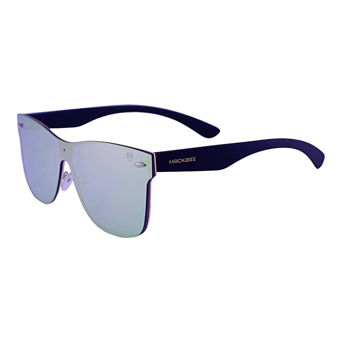 Óculos De Sol Mackage Unisex Acetato Newwayfarer Mascara - Preto Lente Furtacor
