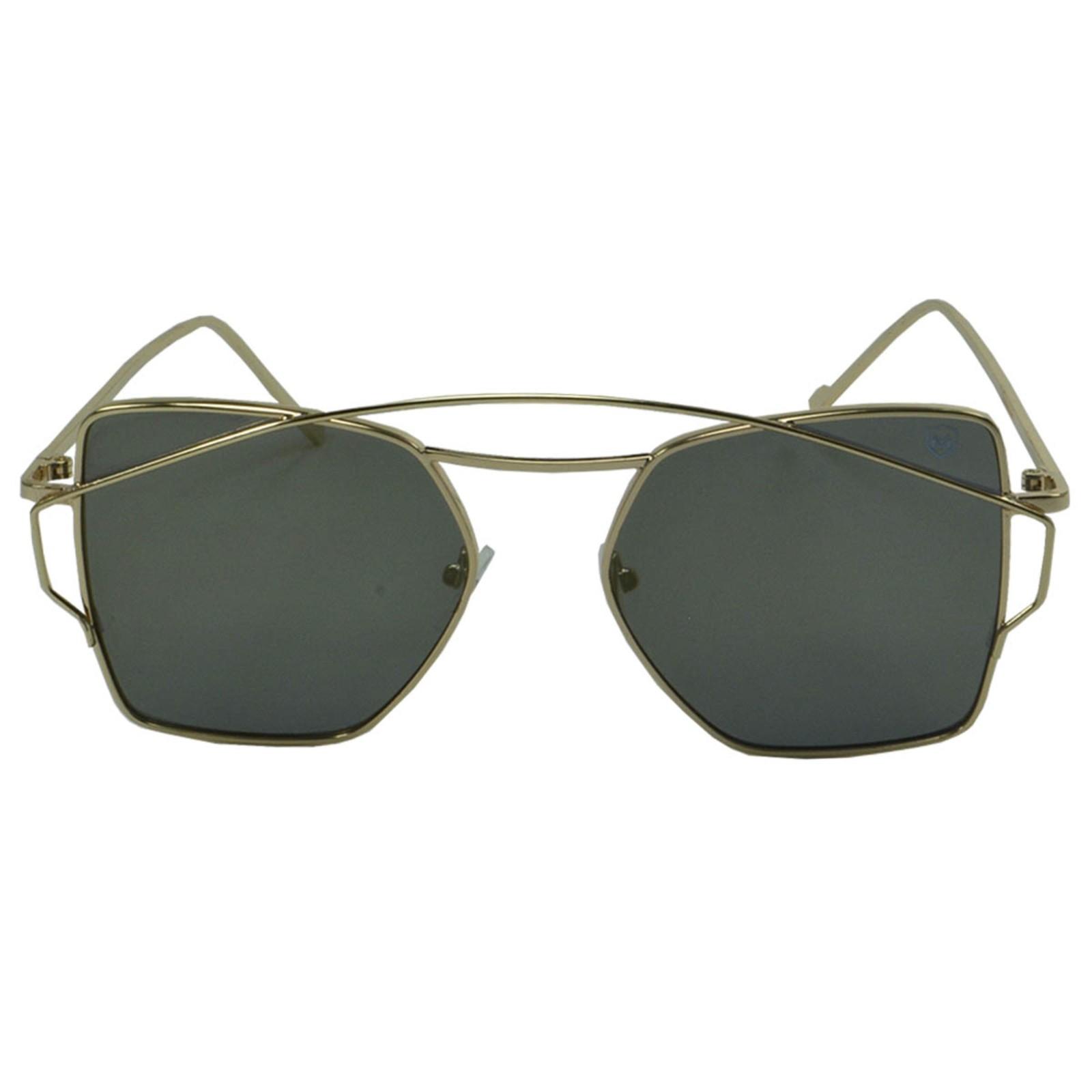 Óculos De Sol Mackage Unisex Metal Quadrado - Bronze