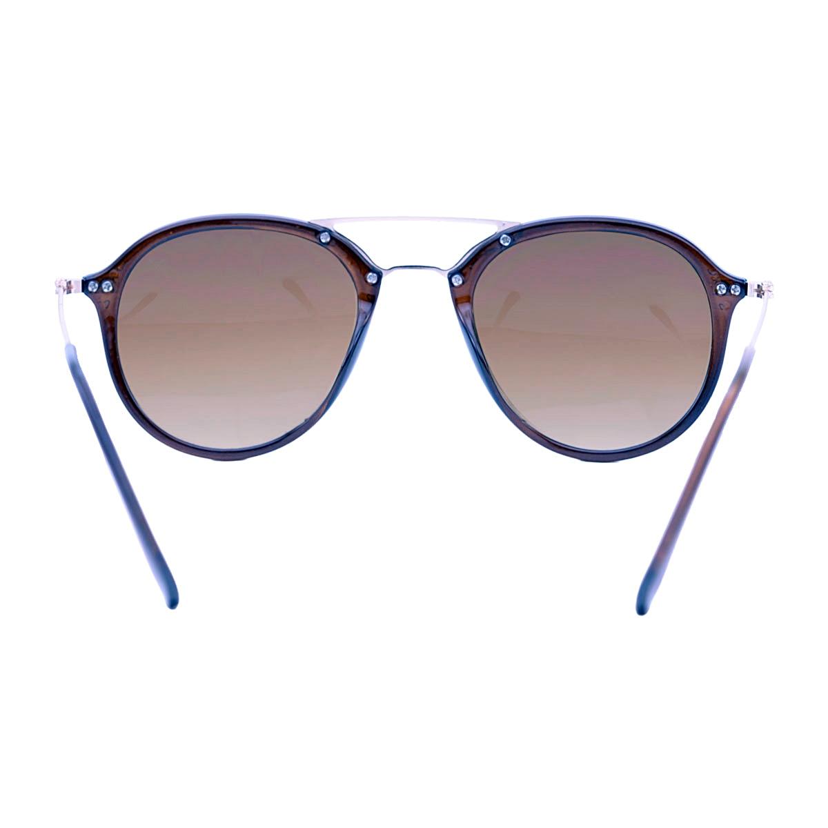 Óculos De Sol Mackage Unissex Acetato Aviator - Preto Fosco