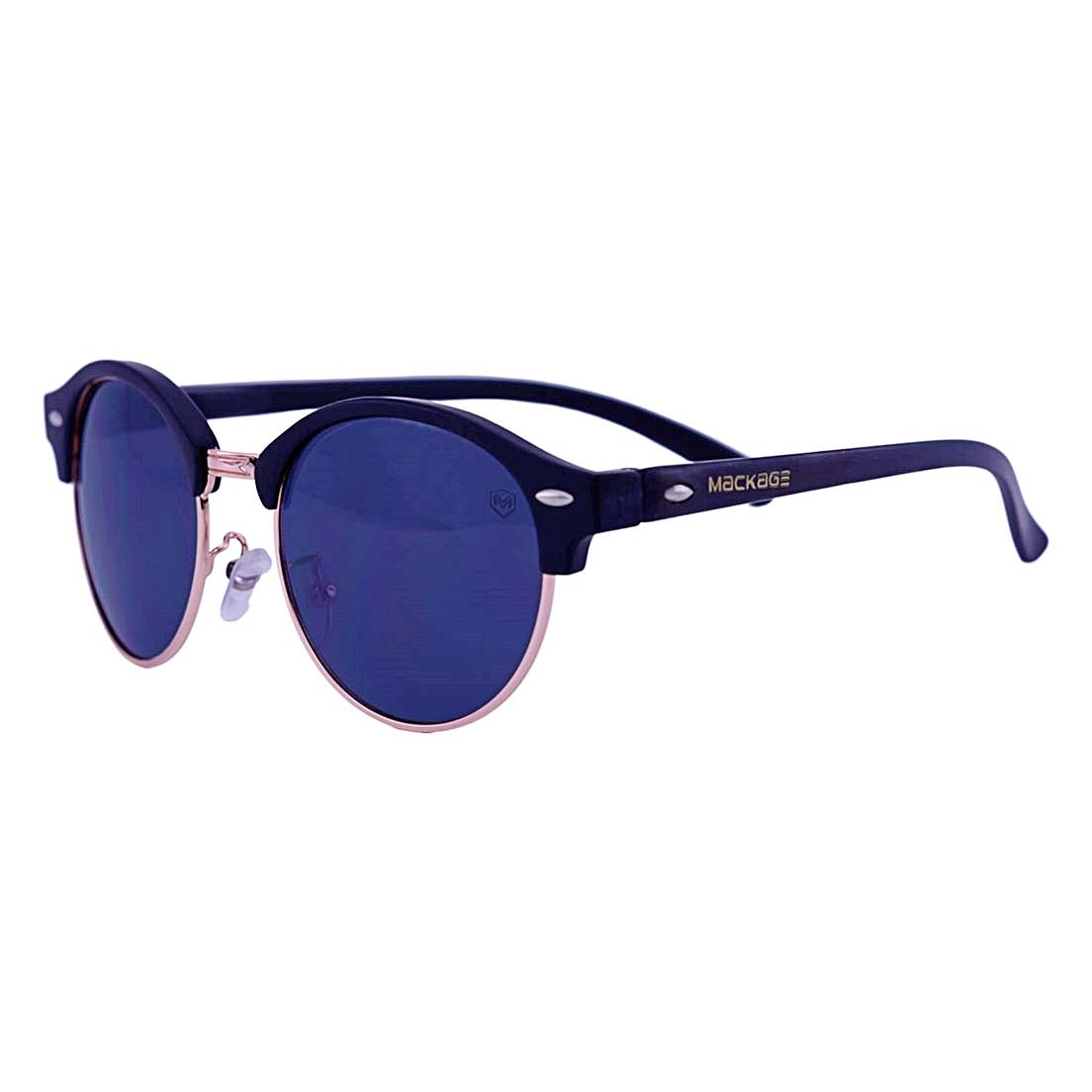 Óculos De Sol Mackage Unissex Acetato Clubmaster - Preto