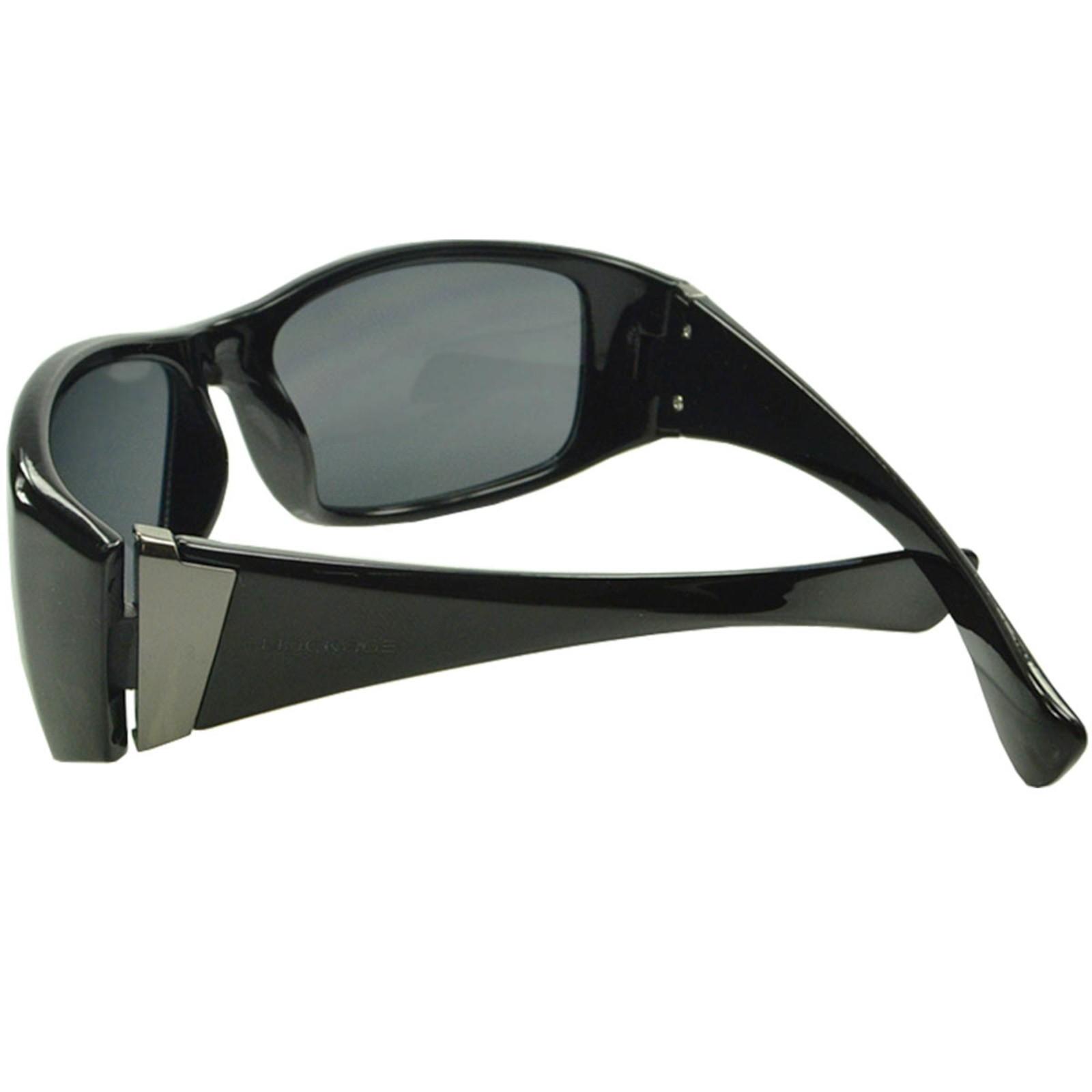 Óculos de Sol Mackage Unissex Acetato Esportivo - Preto Brilho