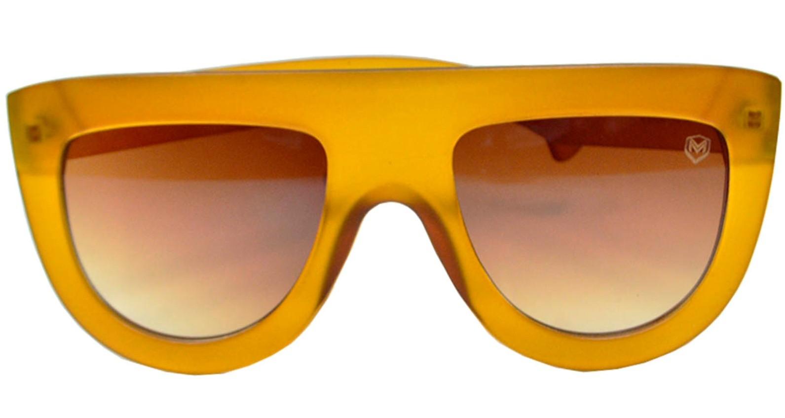 Óculos De Sol Mackage Unissex Acetato Fashion - Caramelo