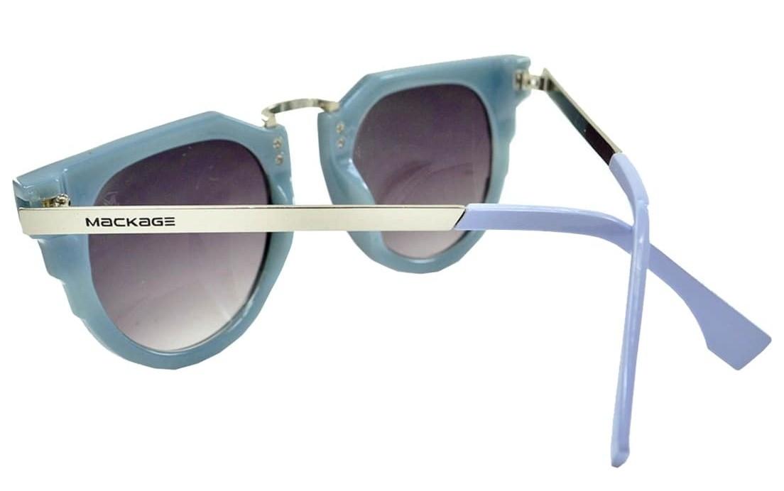 Óculos De Sol Mackage Unissex Acetato-Metal Geométrico - Azul
