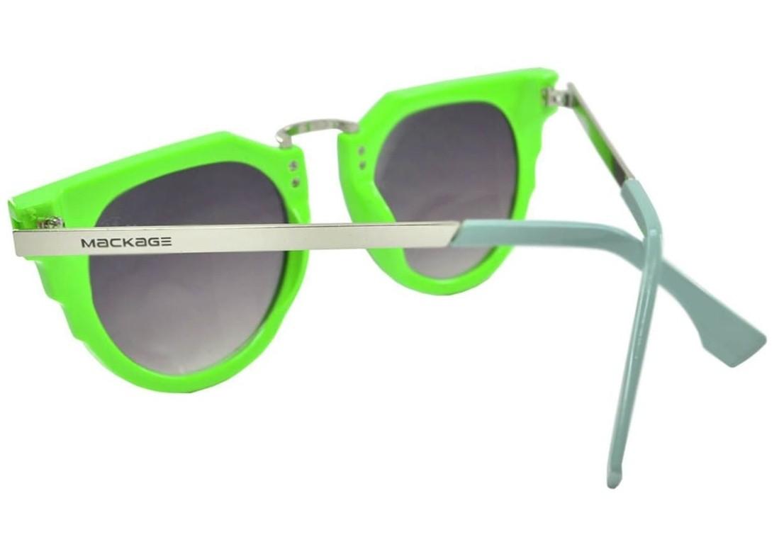 Óculos De Sol Mackage Unissex Acetato-Metal Geometrico - Verde