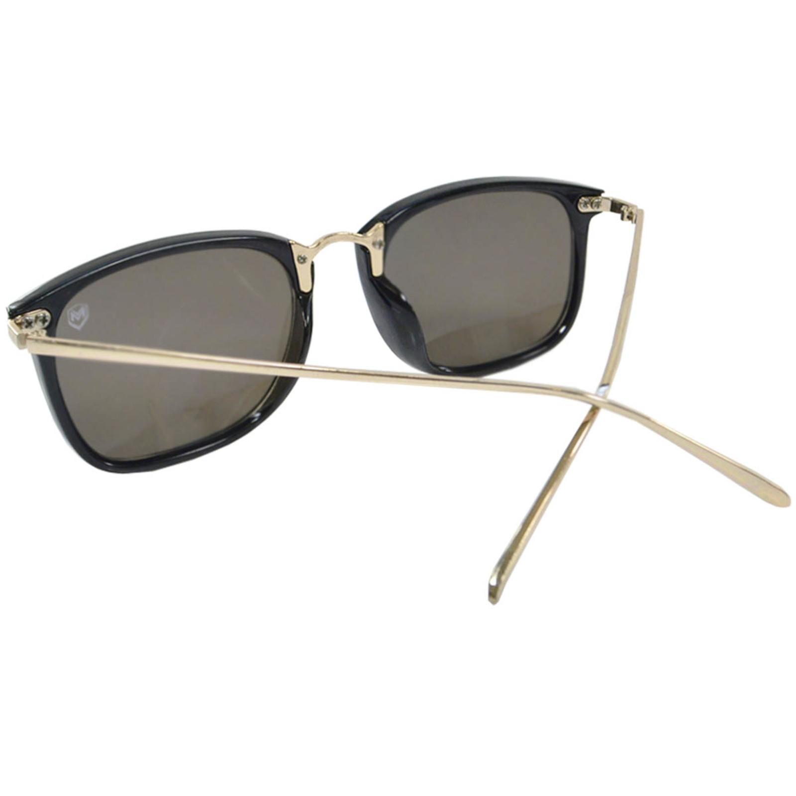 Óculos De Sol Mackage Unissex Acetato/Metal Retangular - Preto