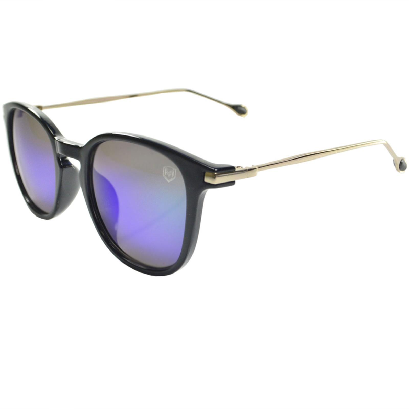 Óculos De Sol Mackage Unissex Acetato/Metal Retangular - Preto/Dourado