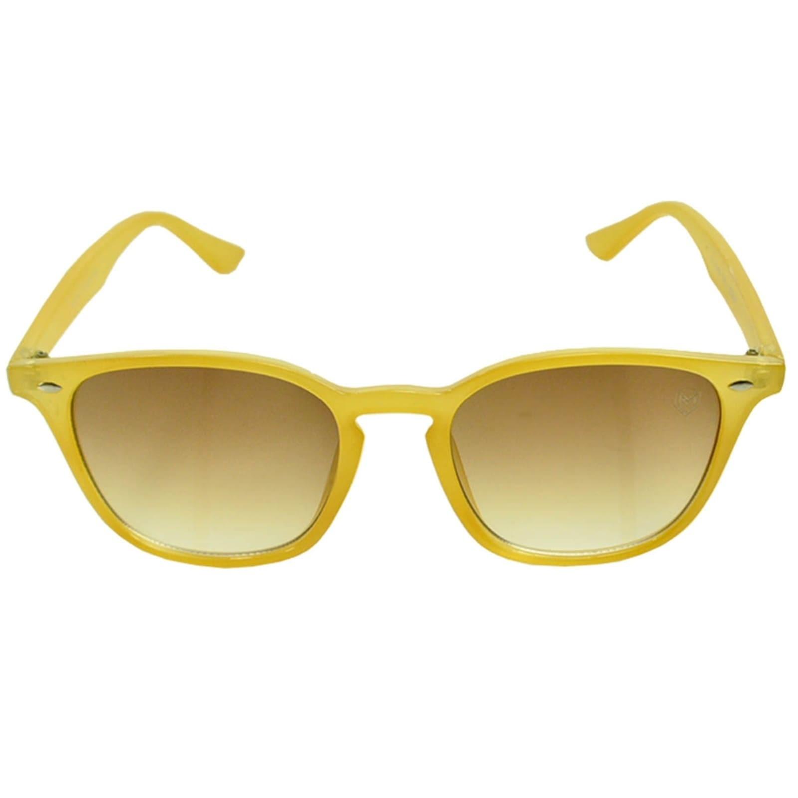 Óculos De Sol Mackage Unissex Acetato Quadrado Wayfarer - Amarelo