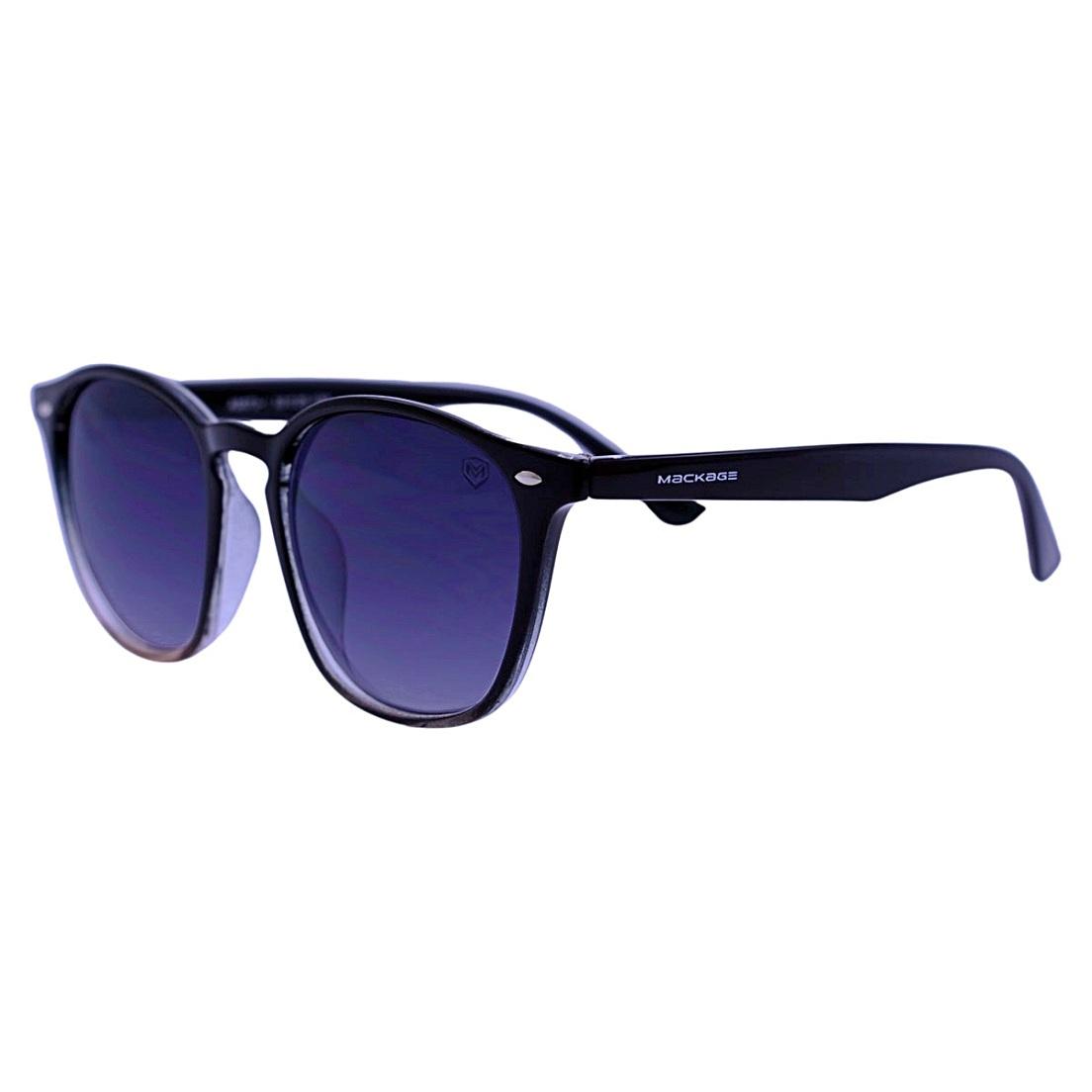 Óculos De Sol Mackage Unissex Acetato Quadrado Wayfarer - Preto