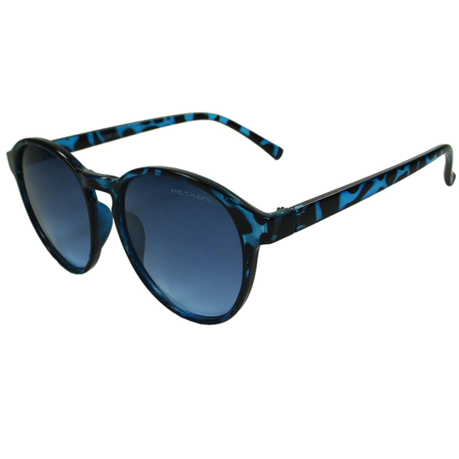 Óculos de Sol Mackage Unissex Acetato Redondo - Azul tarta