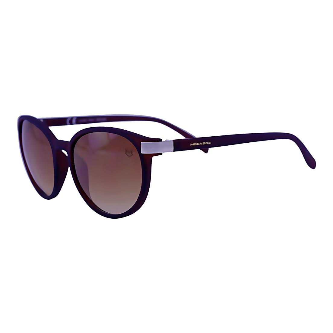 Óculos De Sol Mackage Unissex Acetato Redondo - Marrom