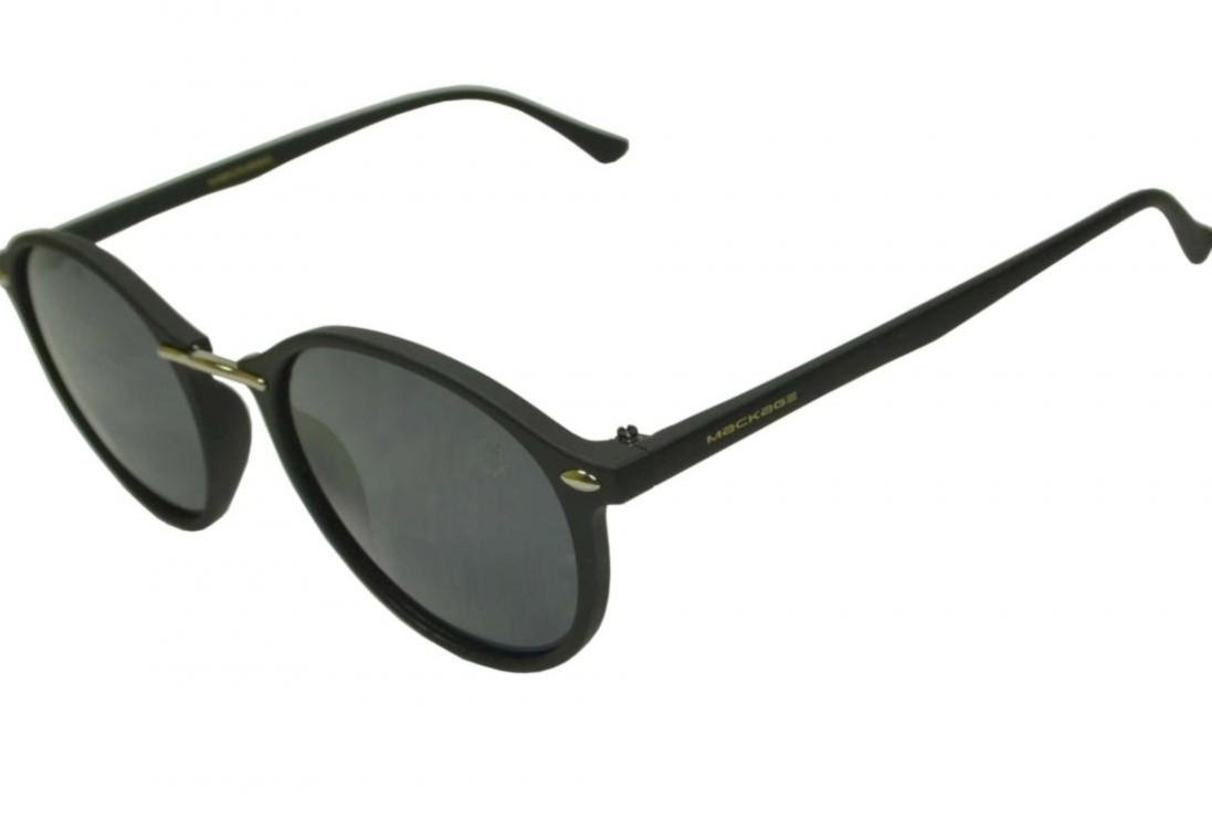 Óculos De Sol Mackage Unissex Acetato Redondo - Preto Fosco
