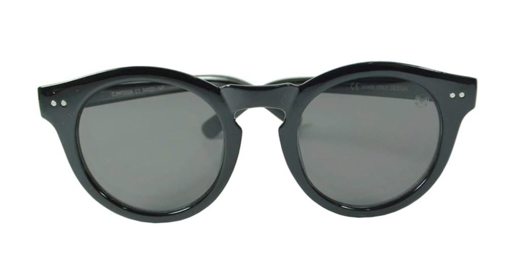 Óculos de Sol Mackage Unissex Acetato Redondo Retrô - Preto