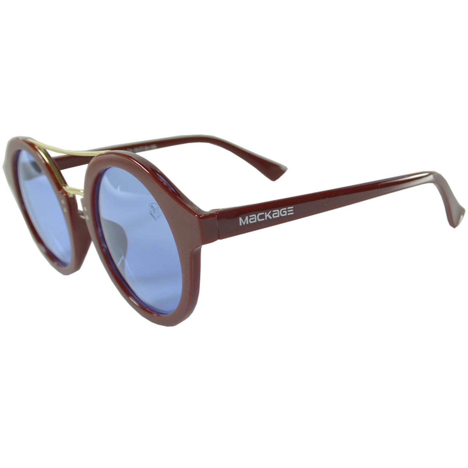 Óculos De Sol Mackage Unissex Acetato Redondo - Vinho/Azul