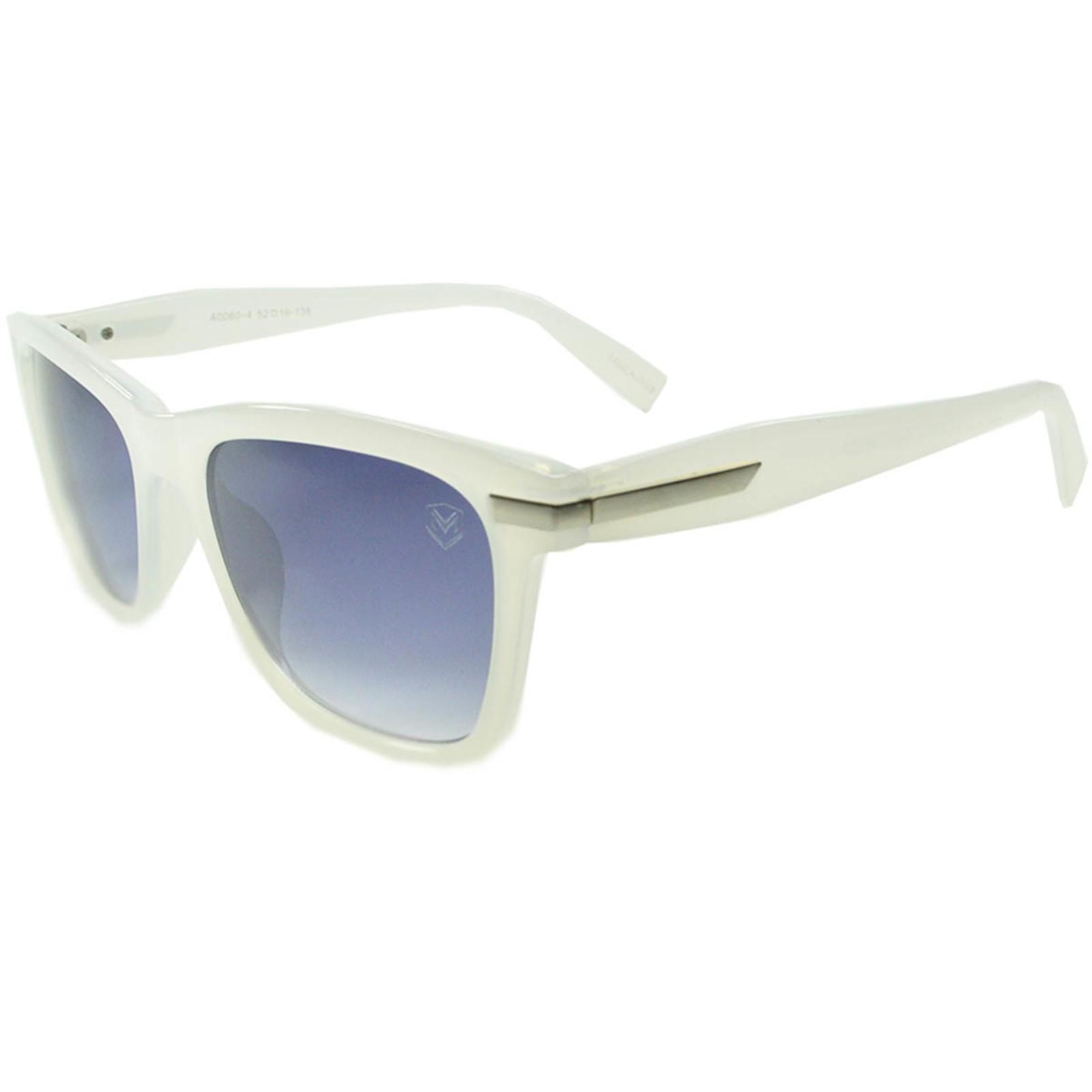 Óculos De Sol Mackage Unissex Acetato Retangular - Branco Gelo