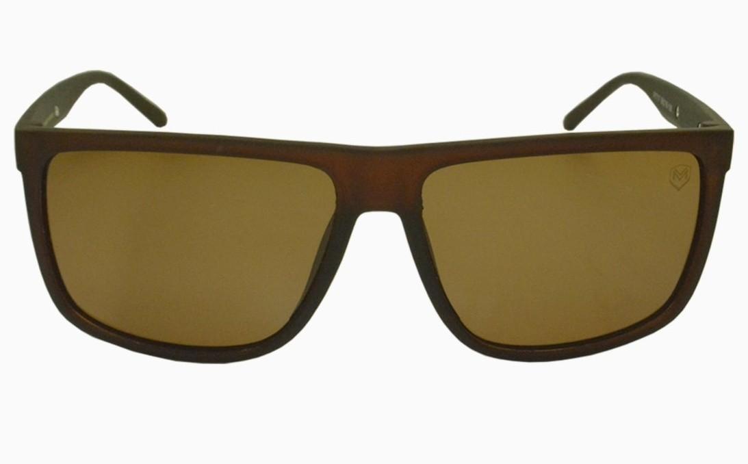 Óculos de Sol Mackage Unissex Acetato Retangular Esporte - Marrom