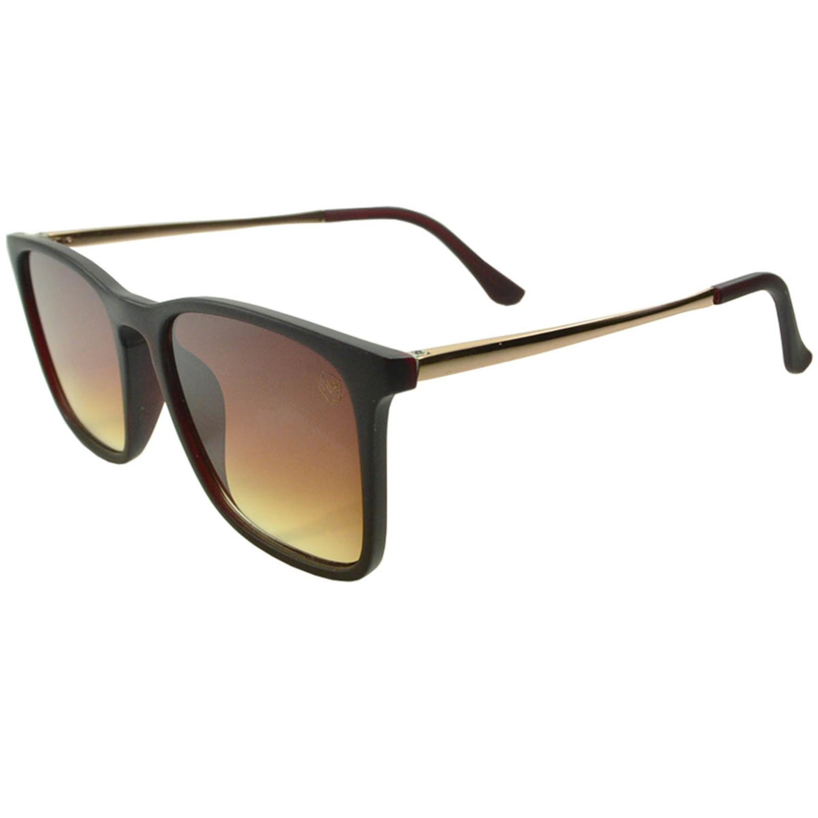 Óculos De Sol Mackage Unissex Acetato Retangular Flat - Marrom