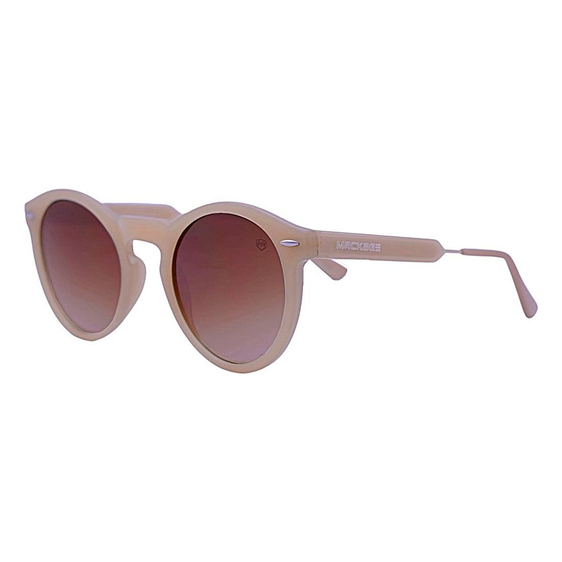 Óculos de Sol Mackage Unissex Acetato Retrô Round - Nude