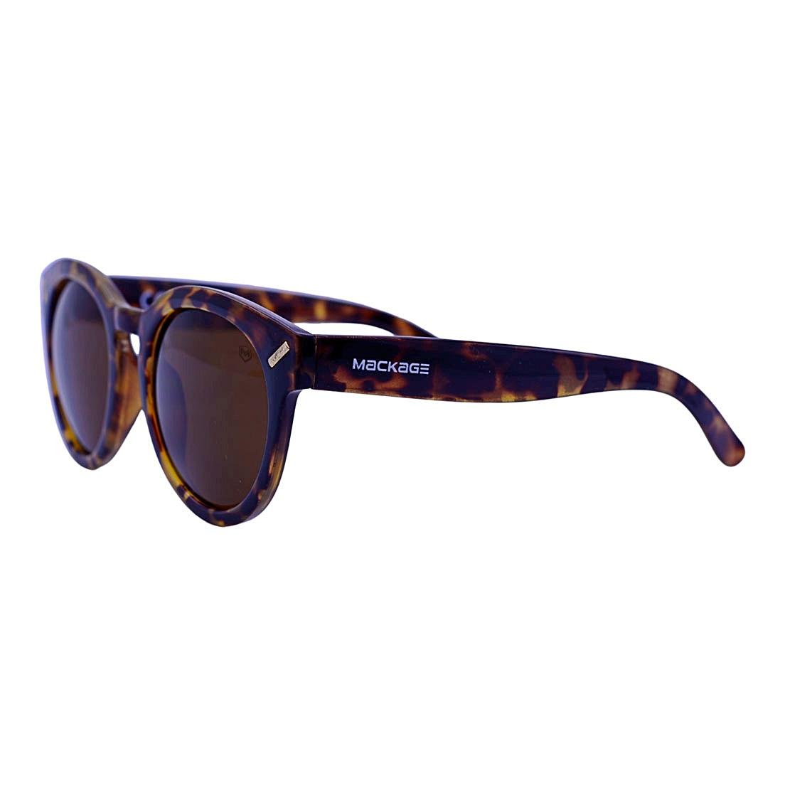 Óculos de Sol Mackage Unissex Acetato Retrô Round - Tarta