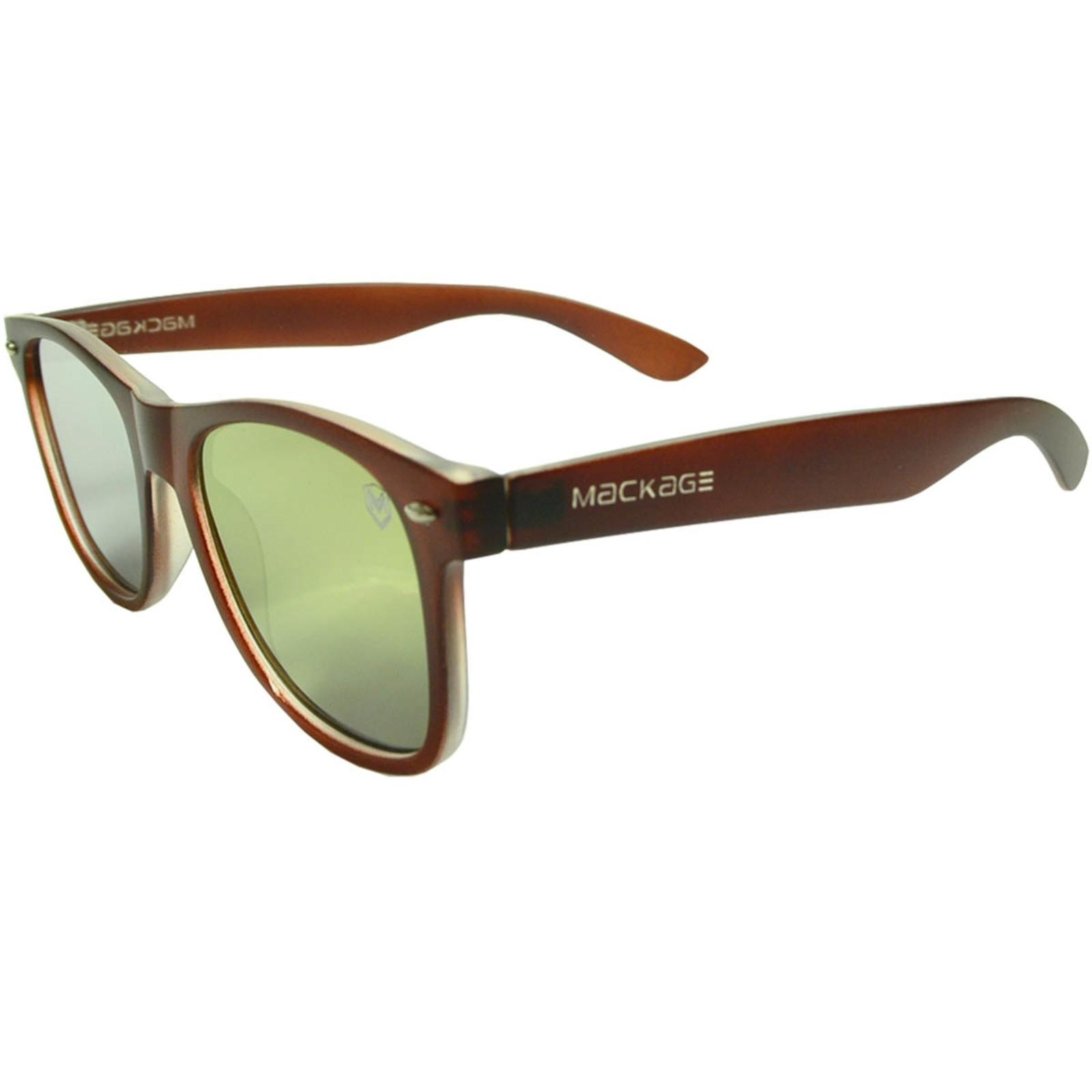 Óculos de Sol Mackage Unissex Acetato Wayfarer - Marrom
