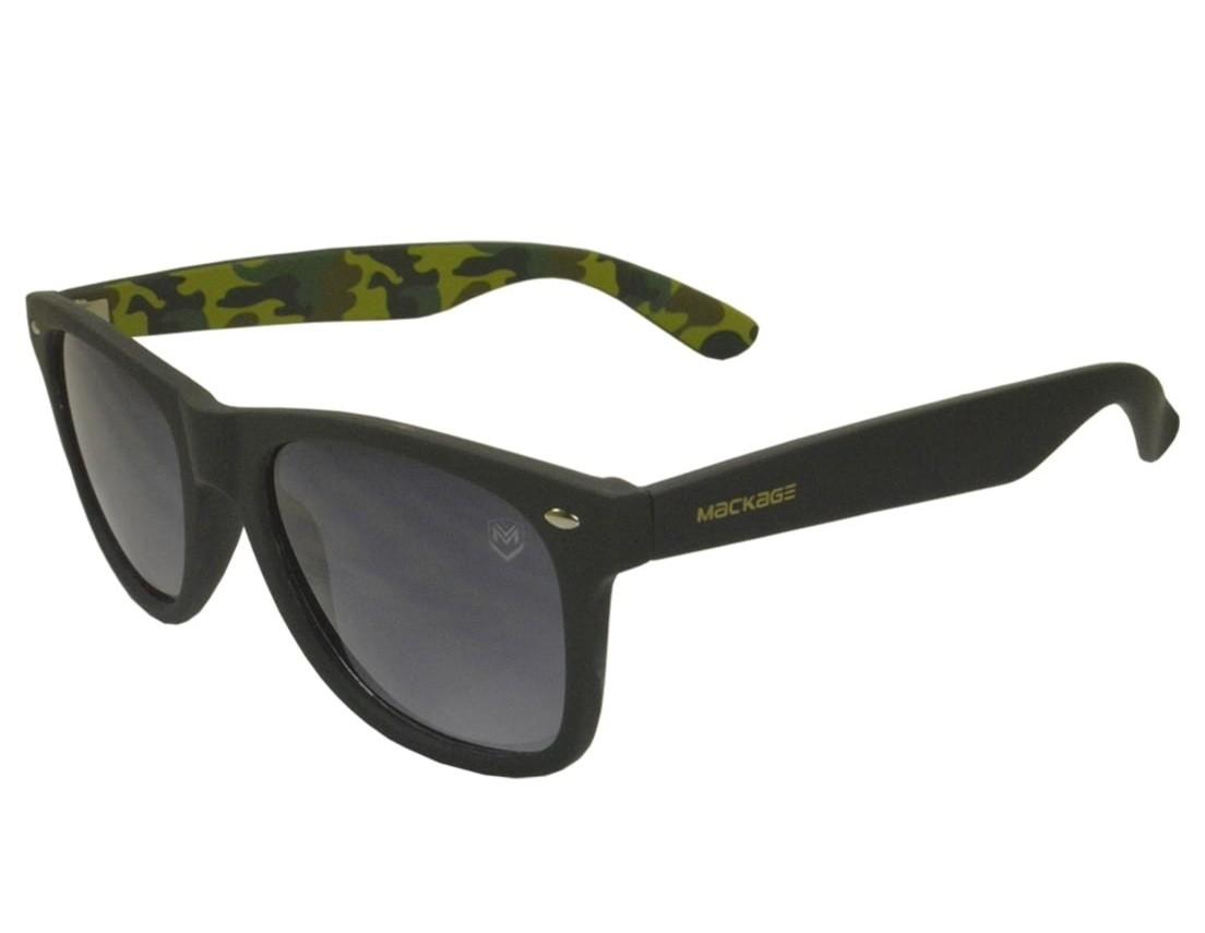 Óculos de Sol Mackage Unissex Acetato Wayfarer - Preto Camuflado
