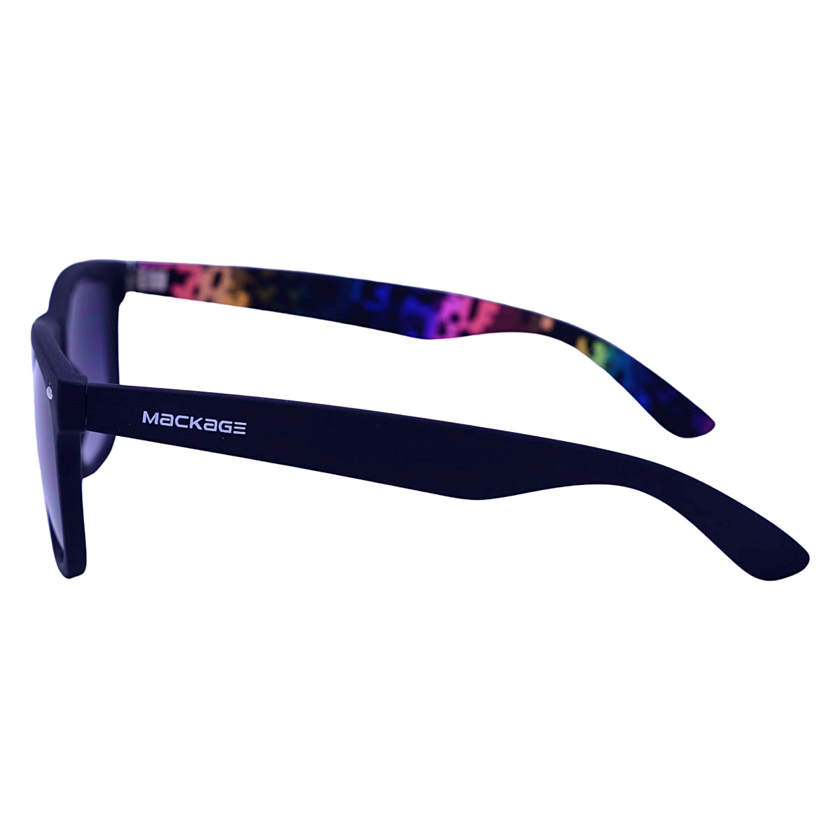 Óculos De Sol Mackage Unissex Acetato Wayfarer - Preto Colors