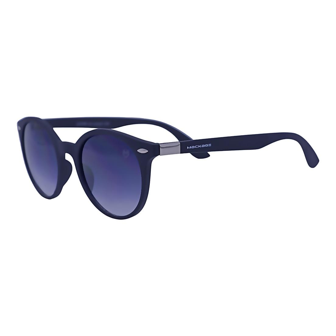 Óculos De Sol Mackage Unissex Acetato Wayfarer Redondo - Preto Fosco