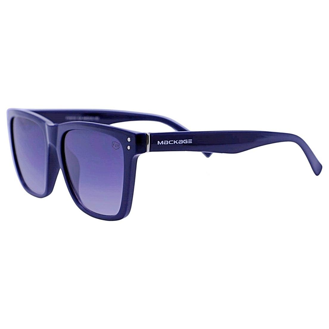 Óculos De Sol Mackage Unissex Esportivo Acetato Retangular - Azul
