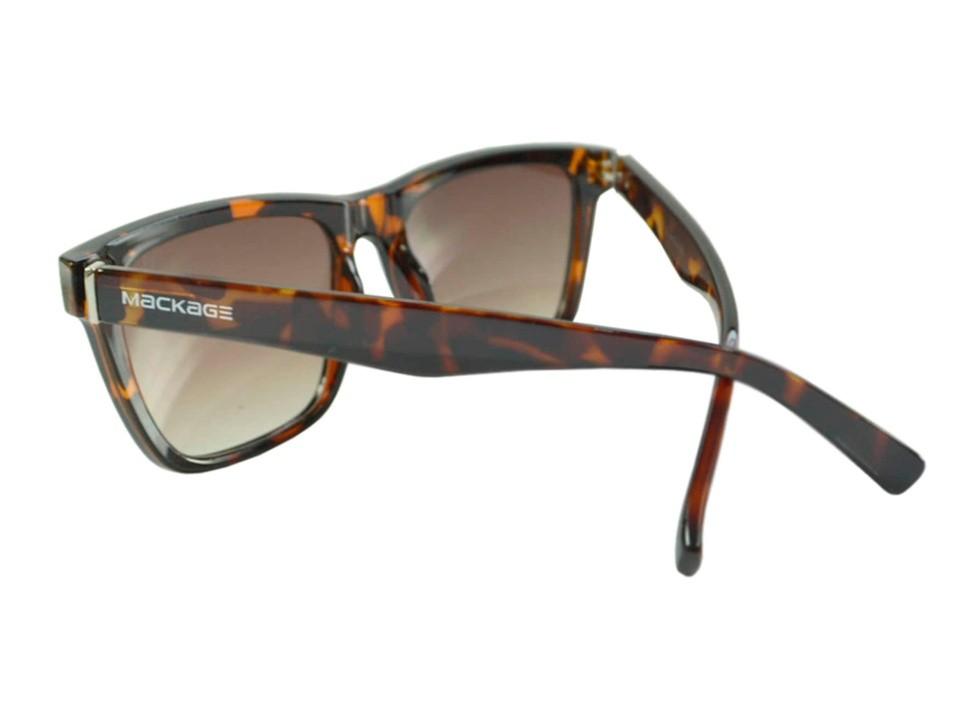 Óculos De Sol Mackage Unissex Esportivo Acetato Retangular - Tarta