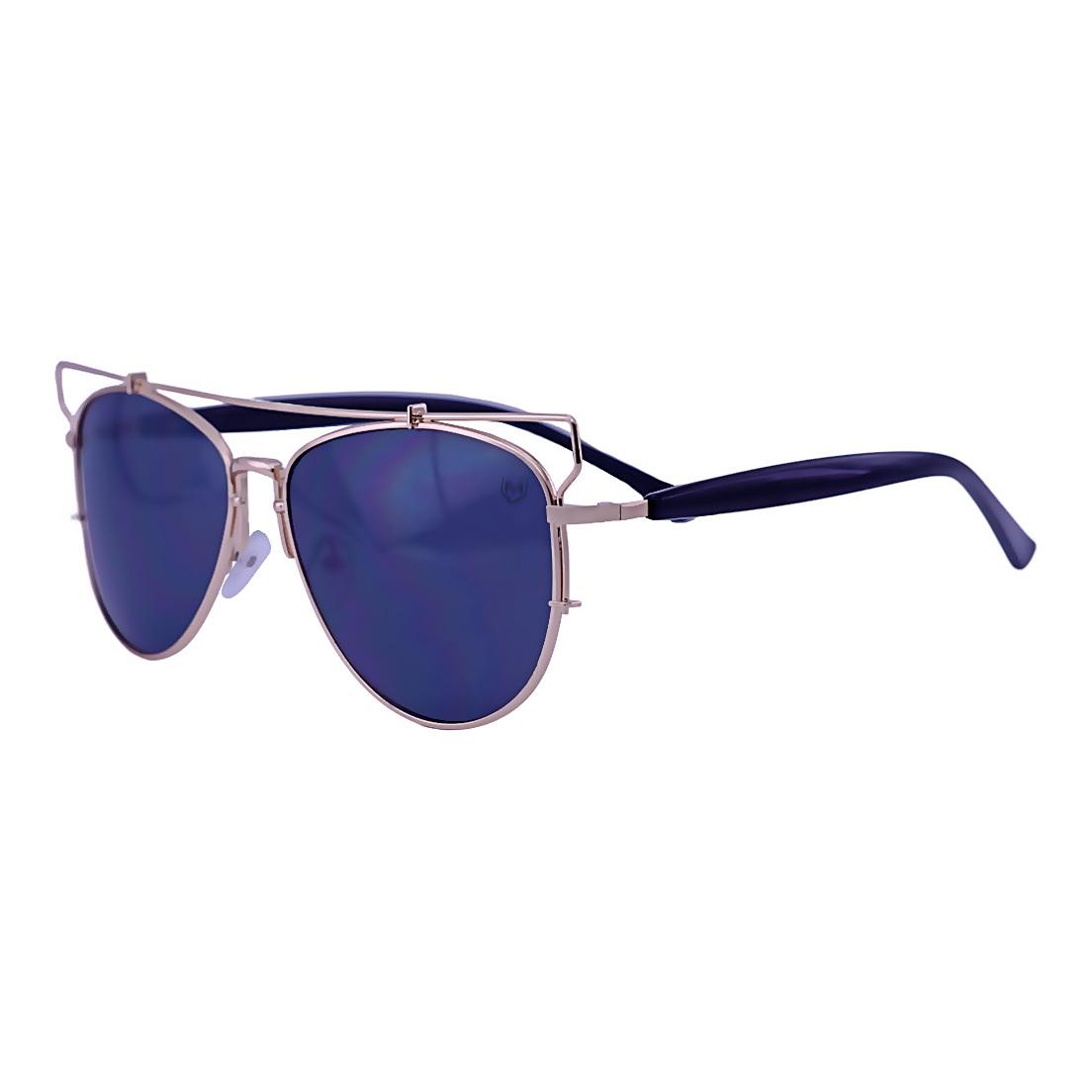 Óculos de Sol Mackage Unissex Geometrico Aviator - Dourado/Preto