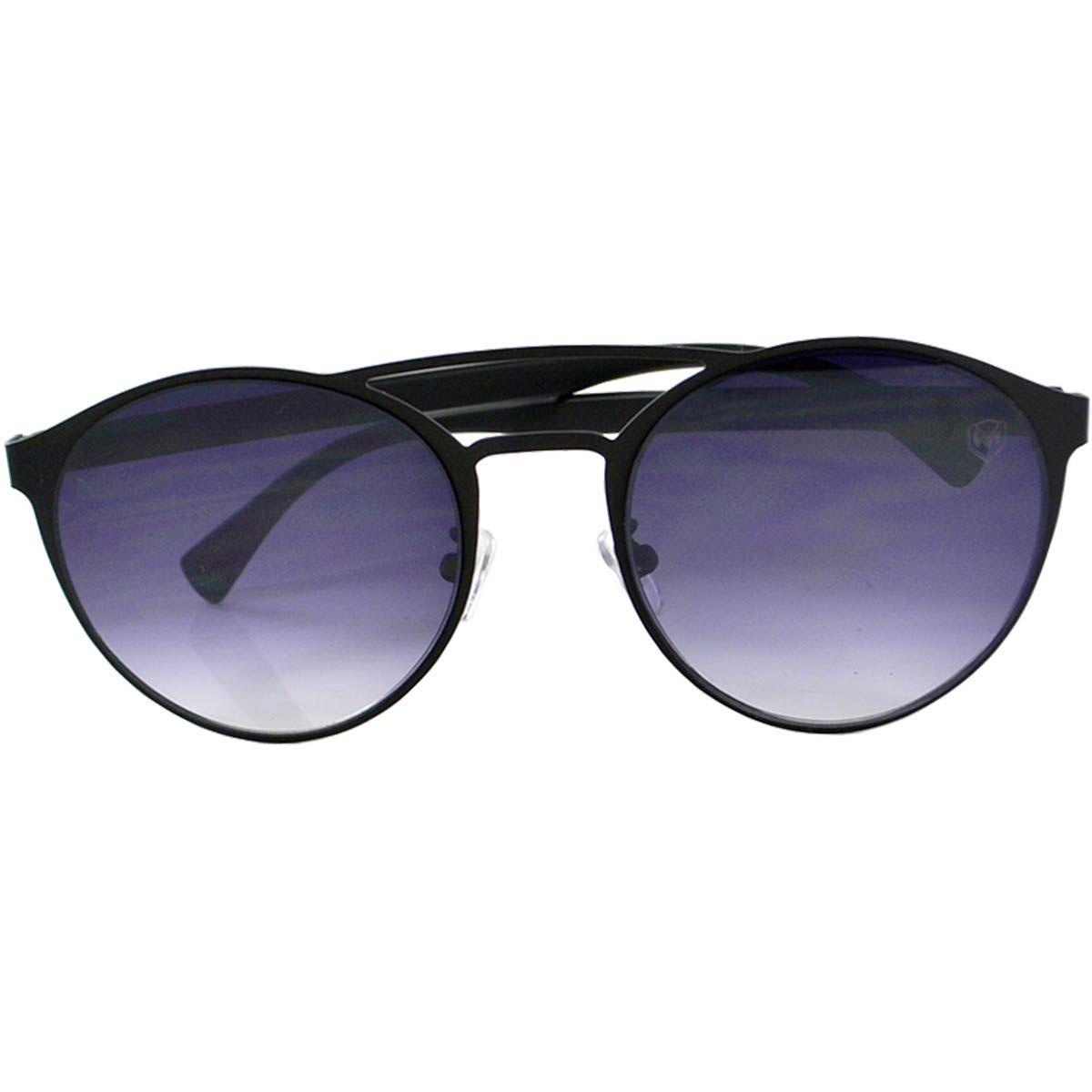 Óculos De Sol Mackage Unissex Metal-Acetato Redondo - Preto