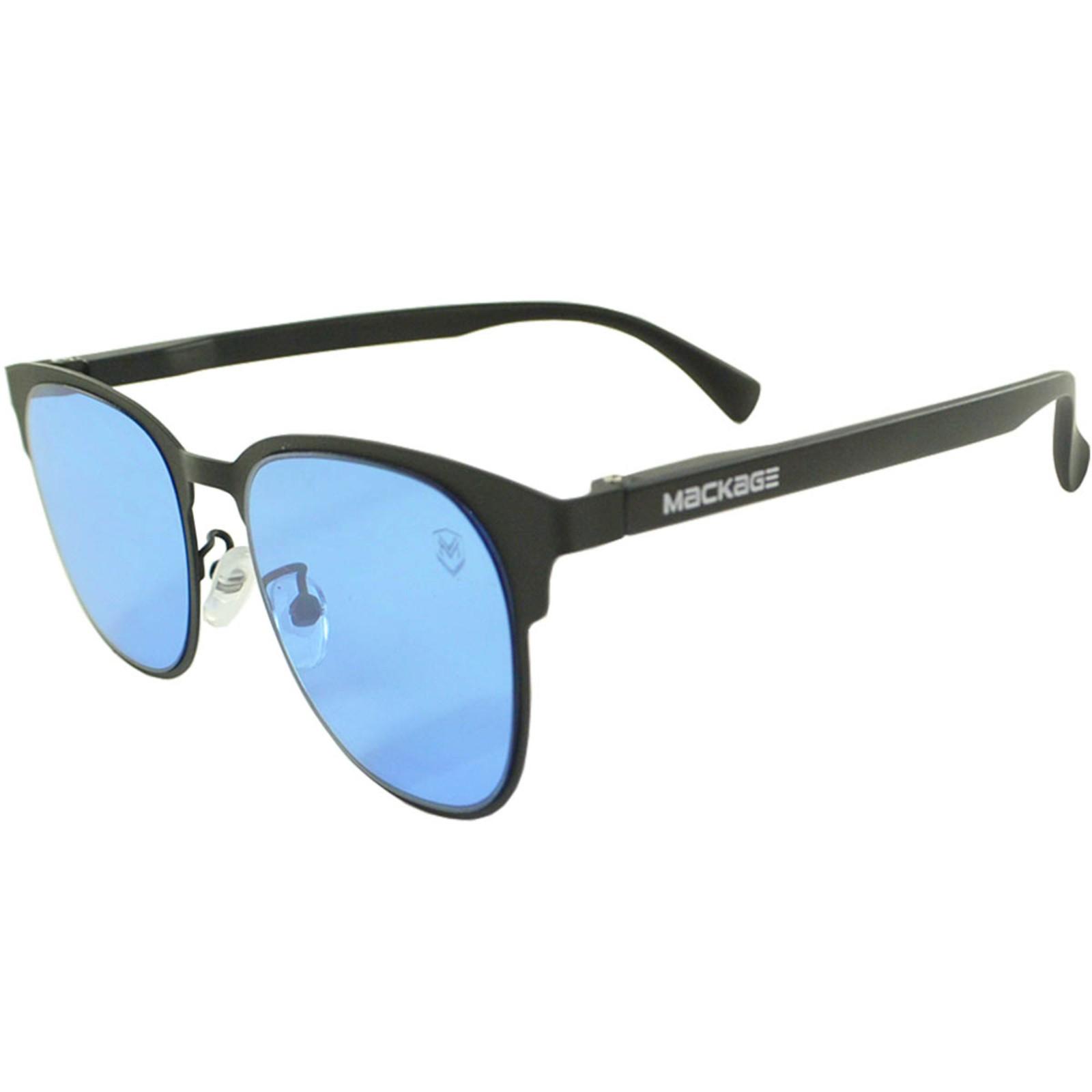 Óculos De Sol Mackage Unissex Metal-Acetato Retangular - Preto