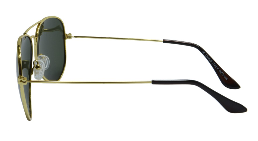 Óculos de Sol Mackage Unissex Metal Aviador Classic G15 - Dourado/Verde