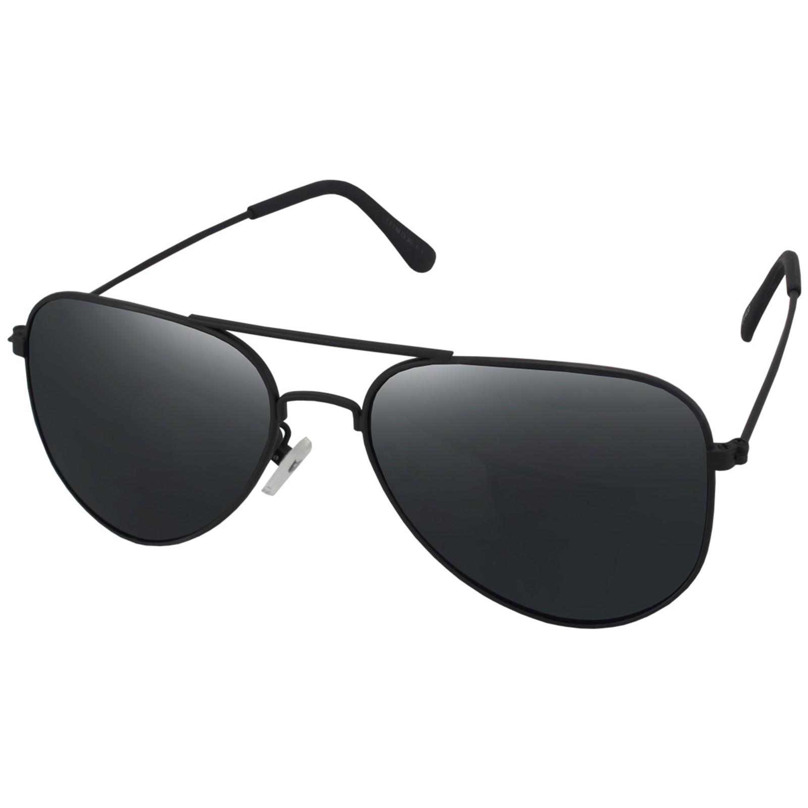 Óculos De Sol Mackage Unissex Metal Aviador Classico - Preto