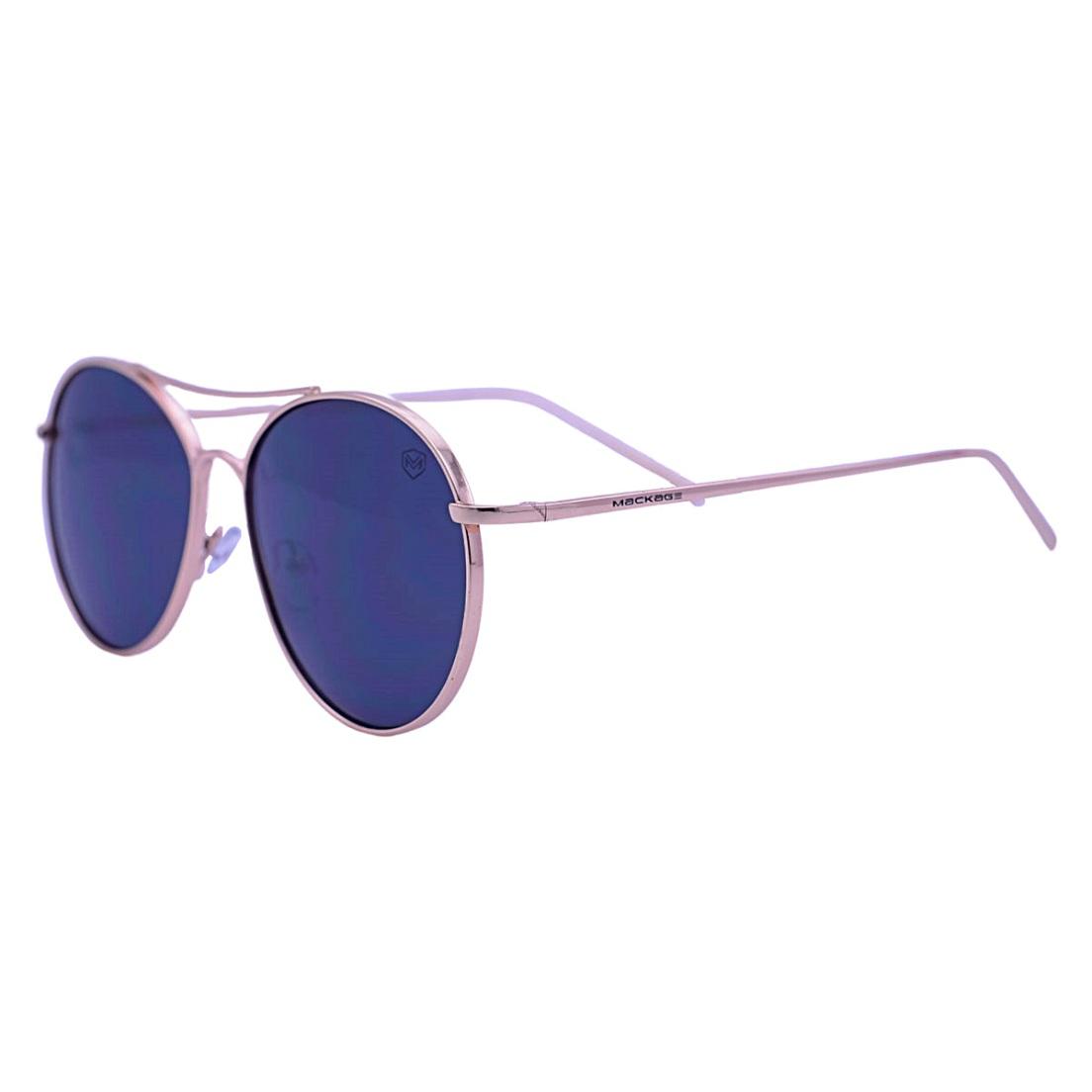 Óculos De Sol Mackage Unissex Metal Aviador - Dourado