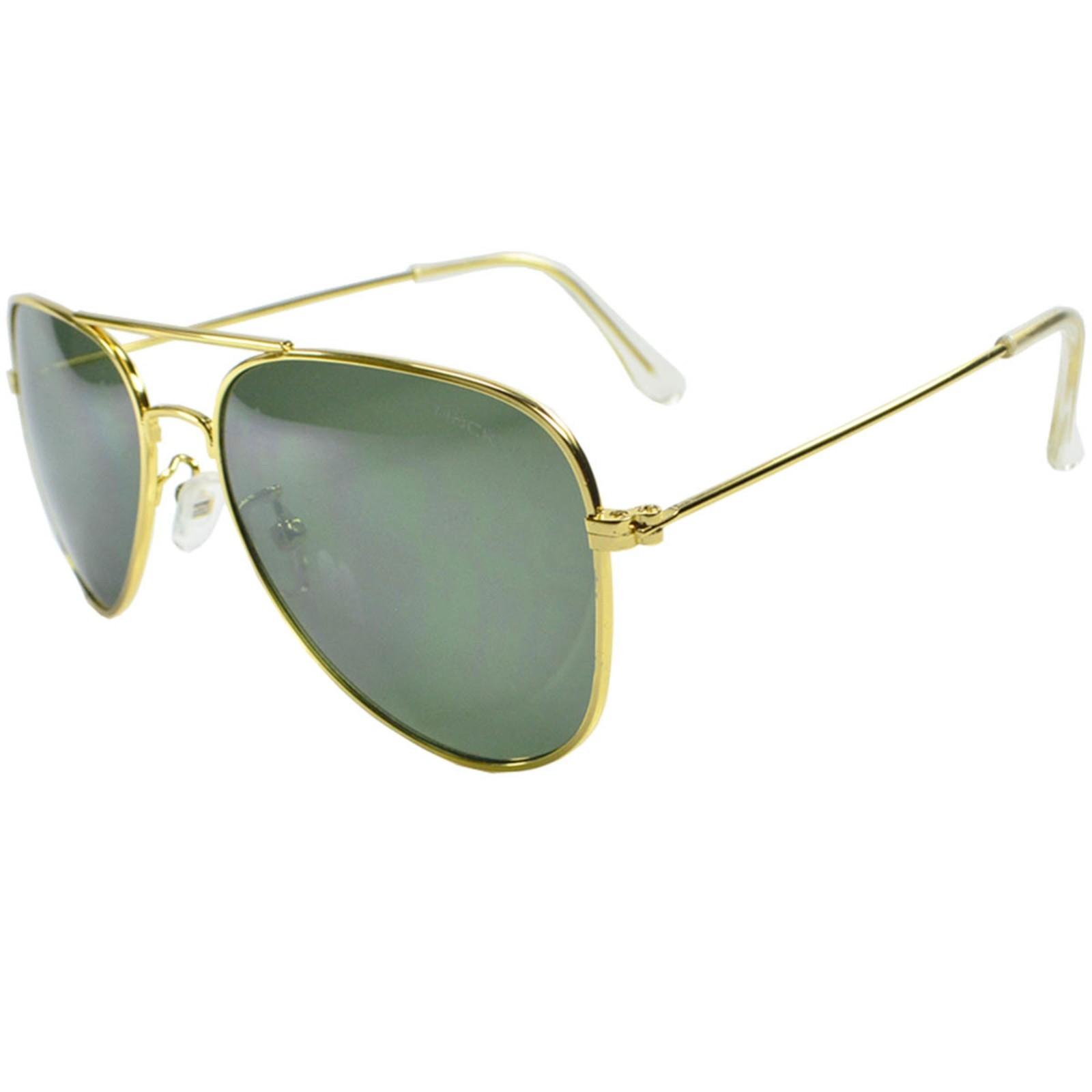 Óculos de Sol Mackage Unissex Metal Aviador - Dourado Verde