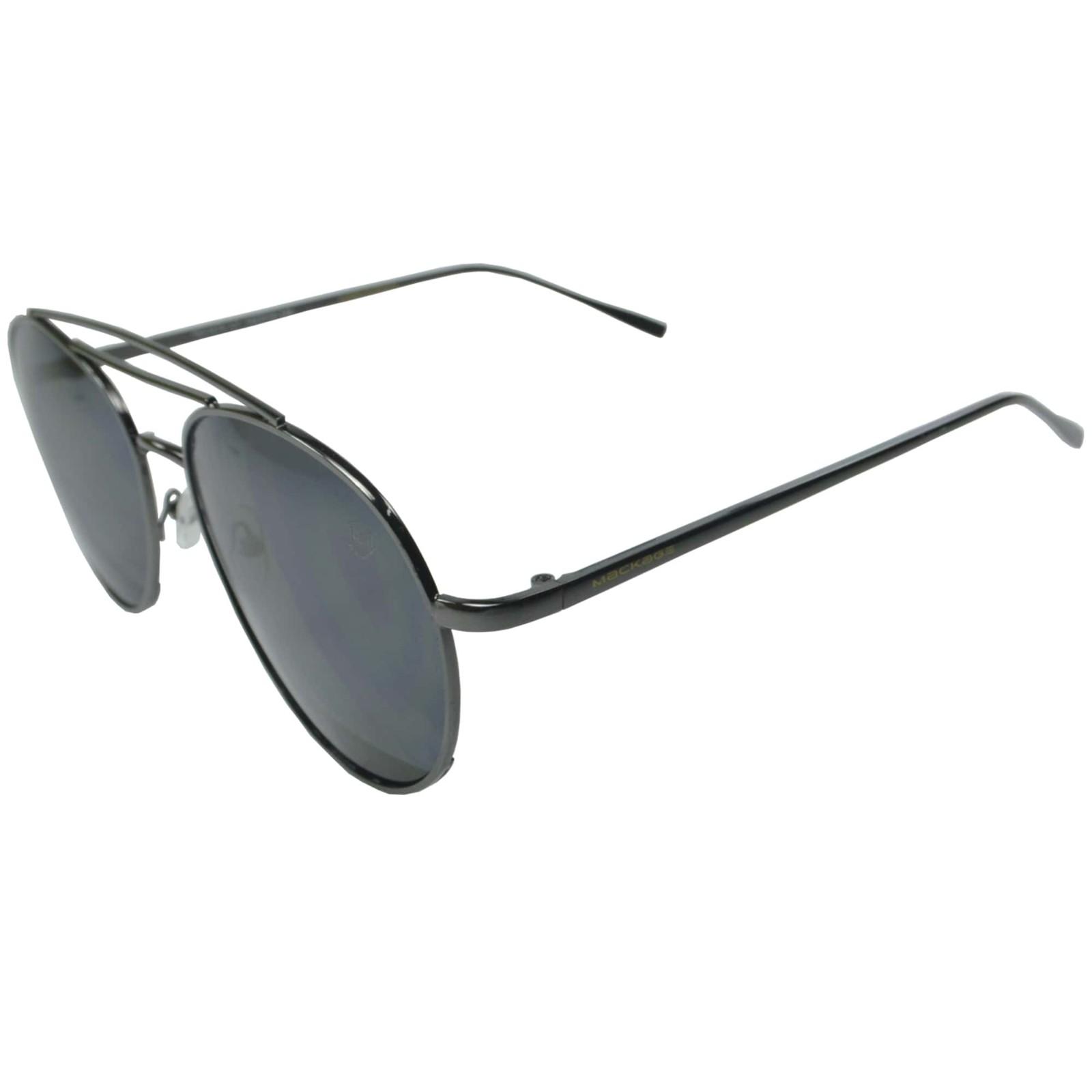 Óculos De Sol Mackage Unissex Metal Aviador - Preto