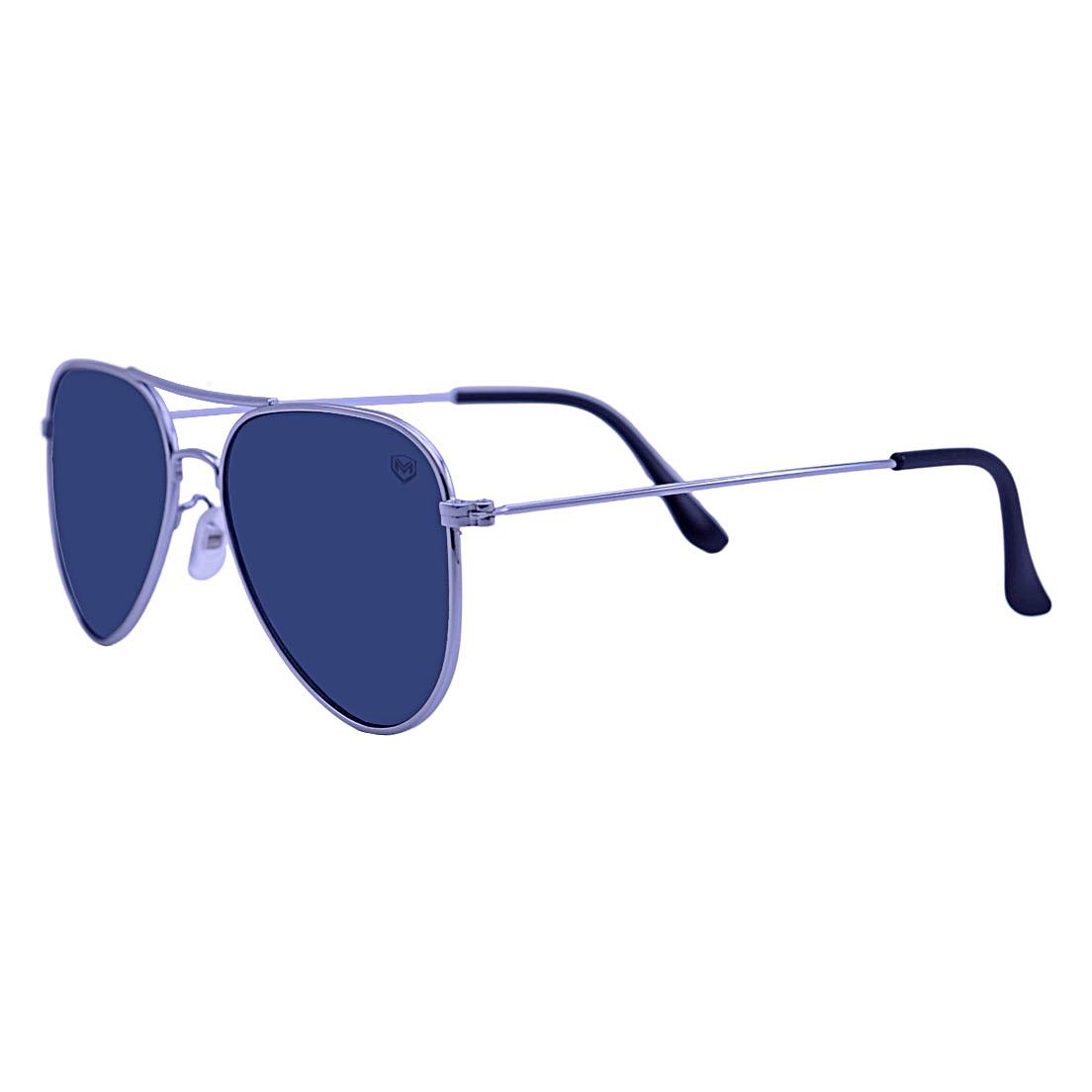 Óculos De Sol Mackage Unissex Metal Aviator Classic - Prata