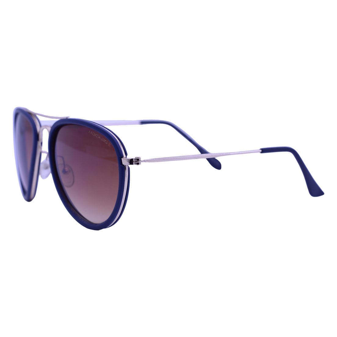 Óculos De Sol Mackage Unissex Metal Aviator - Dourado/Azul